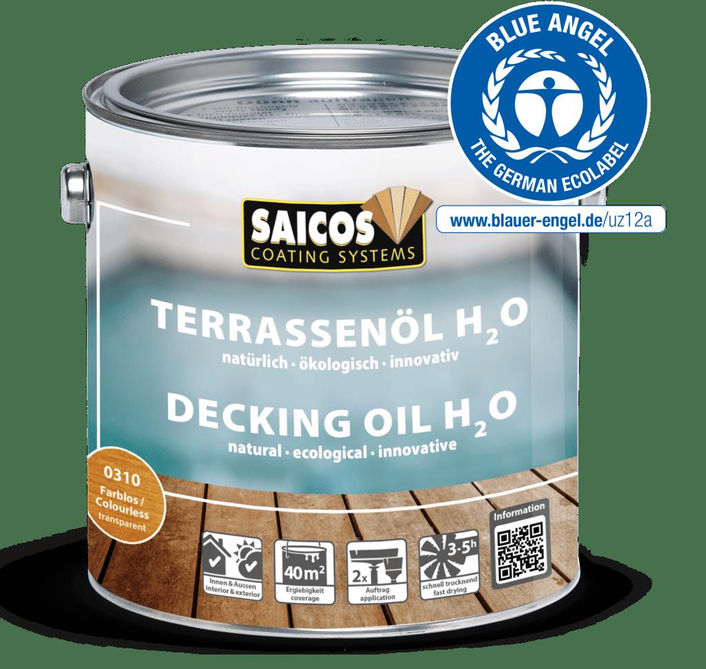Saicos Terassenöl Blauer Engel umweltfreundlich englisch decking oil