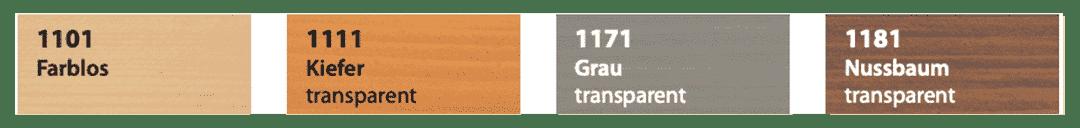 Saicos UV Schutzlasur Farbtafel 2021