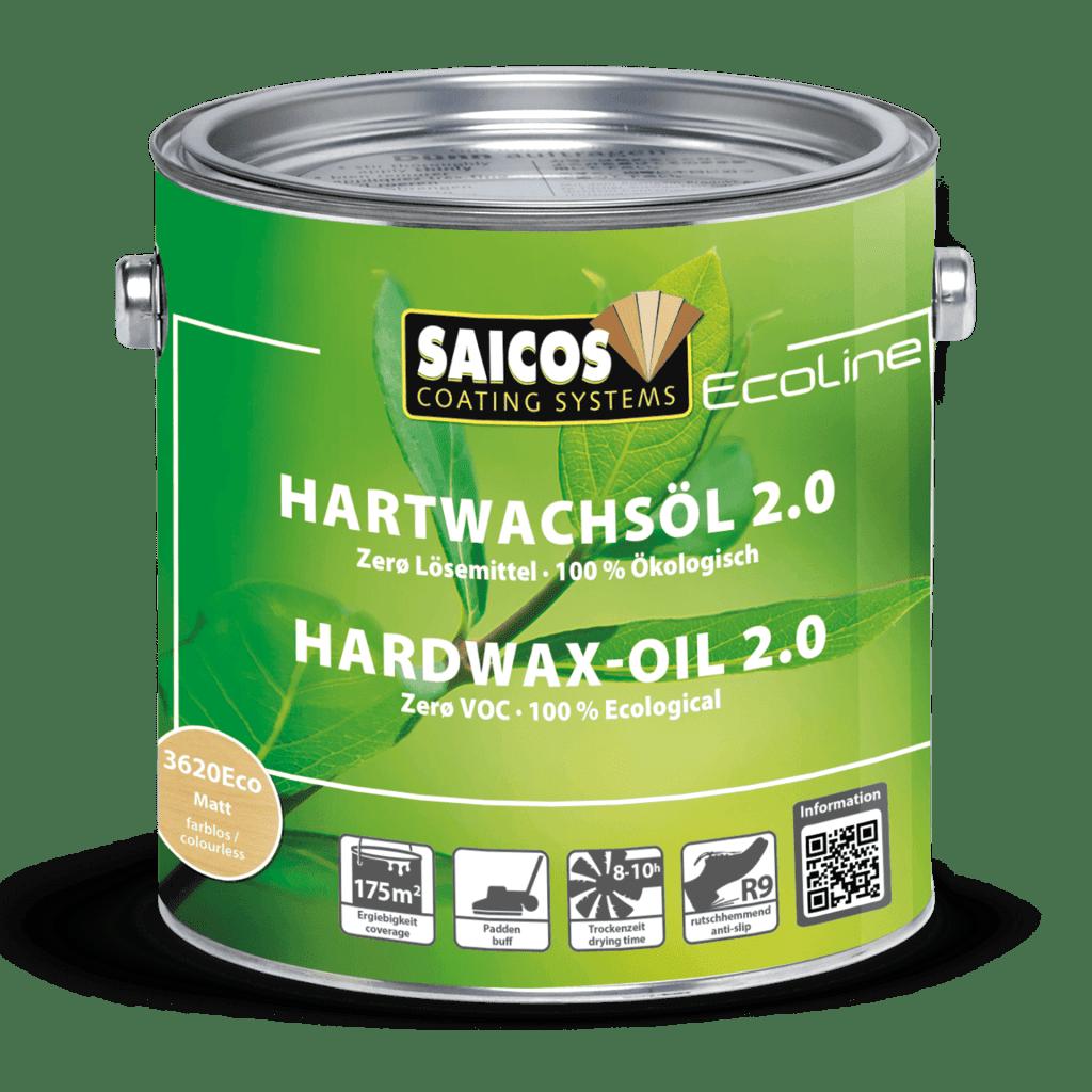 Saicos Ecoline Hartwachsöl 2.0 lösemittelfrei ökologisch hardwax-oil solvent-free