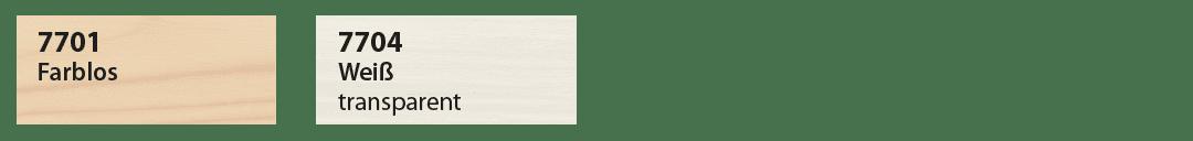 Saicos UV Schutzlasur Farbtafel