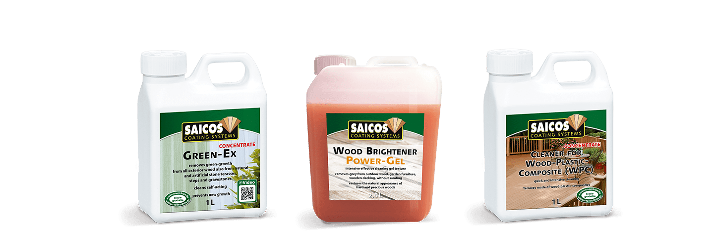Saicos Green-Ex Wood-Brightener WPC Cleaner englisch