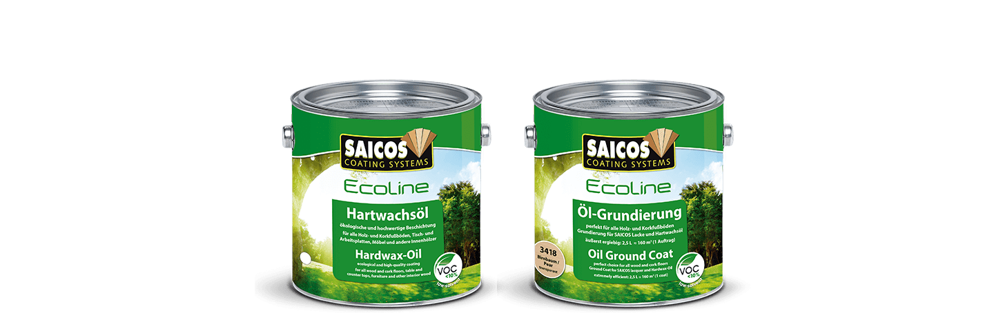 Saicos Ecoline Hartwachsöl Oil-Grundierung englisch deutsch Hardwax-Oil Oil Ground Coat