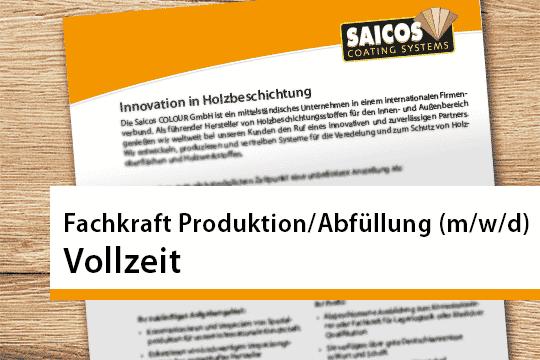 Fachkraft Produktion Abfüllung
