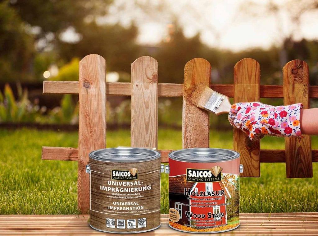 Saicos Holzlasur Universalimprägnierung Gartenhölzer Außen
