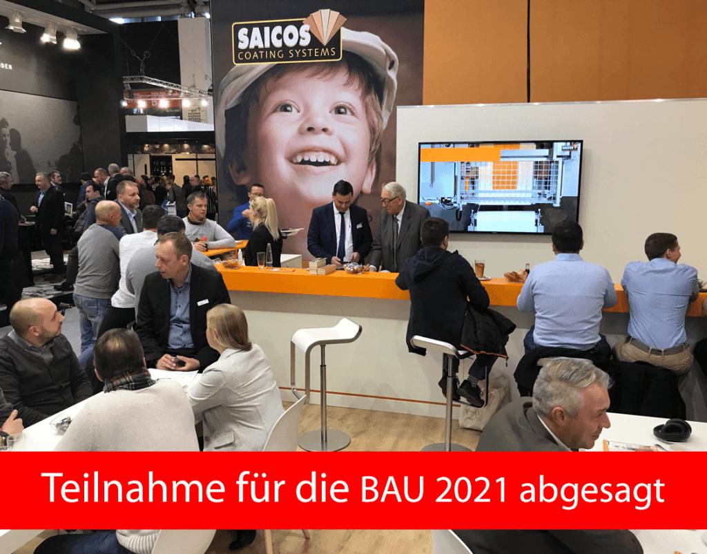 Absage Saicos BAU 2021 München Messe Corona