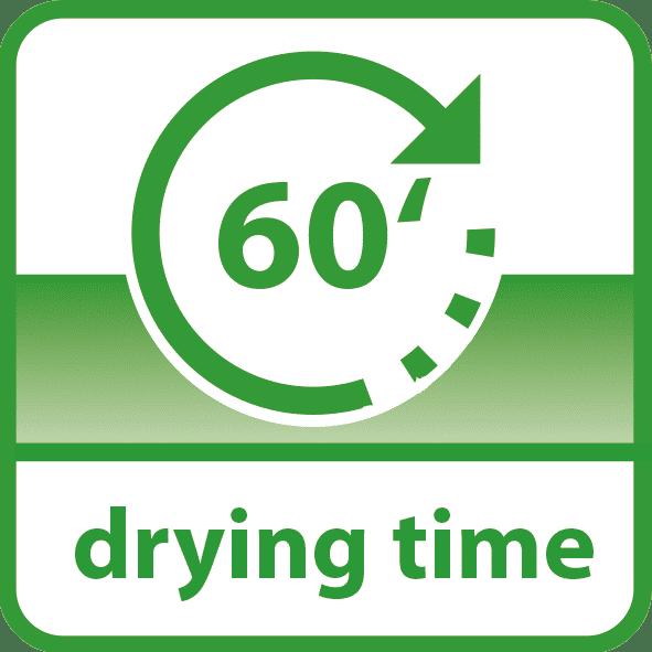 Saicos englisch drying time