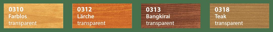 Saicos Terrassenöl H2O Farbtafel