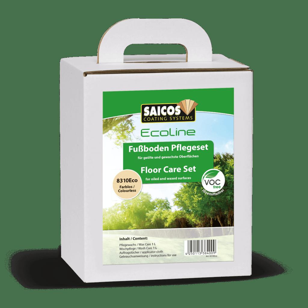 Saicos Ecoline Fußboden Pflegeset Floor Care Set englisch