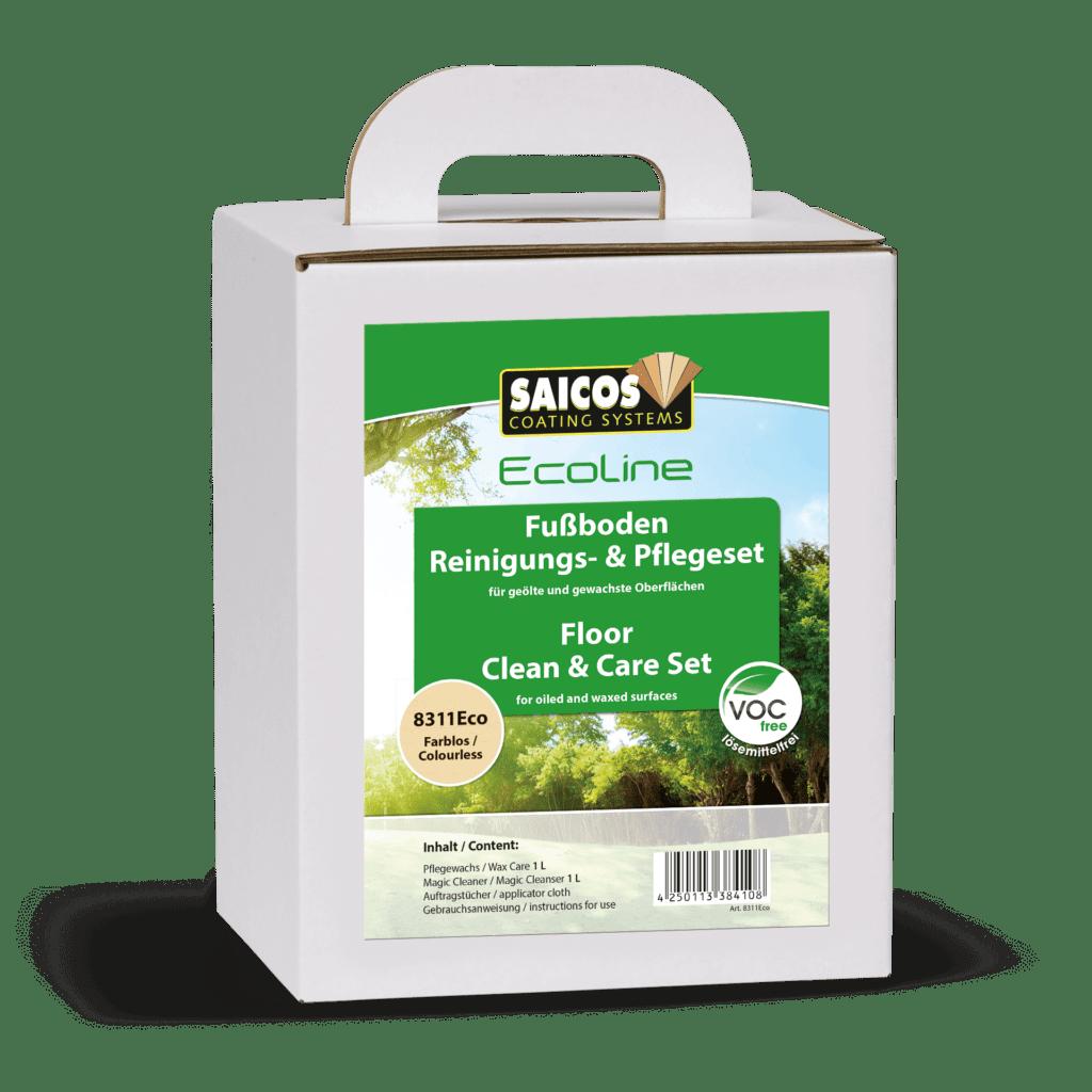 Saicos Ecoline Fußboden Reinigungs- & Pflegeset Floor Clean & Care Set