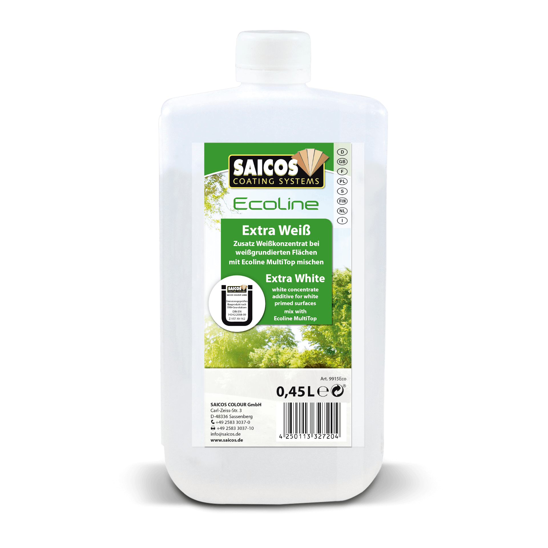 Saicos Ecoline MultiTop Extra Weiß extra white englisch